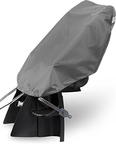 normani Fahhradkindersitzüberzug Regenschutz mit reflektierenden Streifen auf der Rückseite Farbe Anthrazit