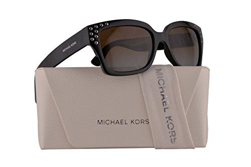 Michael Kors MK2066 Banff Sunglasses Black w/Polarized Brown Gradient Lens 55mm 3009T5 MK 2066