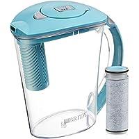 Brita 10bardak Stream gibi Filter Sie dökün su Krug 1filtre, Hydro, BPA içermez, tebeşir Beyaz, plastik, Mavi, Blue