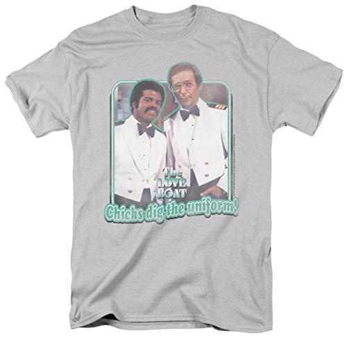 Wicked Tees Herren T-Shirt Love Boat, kurzärmelig, DIG The UNIFORM - Pe-uniformen