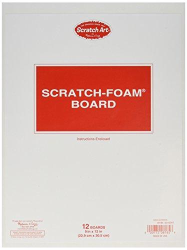 Melissa & Doug Scratch Foam Board (12 Boards), 9 x 12 by Melissa & Doug