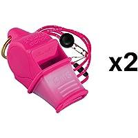 Fox 40 Sonik Blast CMG Whistle Lanyard Referee Outdoor Dog Safety Pink (2-Pack)
