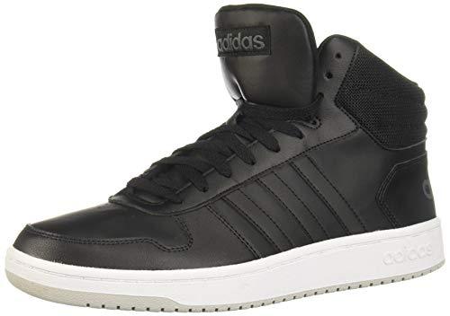 adidas Herren Hoops 2.0 Mid Basketballschuh, Core Black/Core Black/Grau Zwei F17, 48 EU