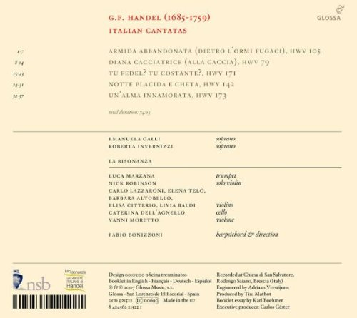 Haendel - Le Cantate per il Marchese Ruspoli