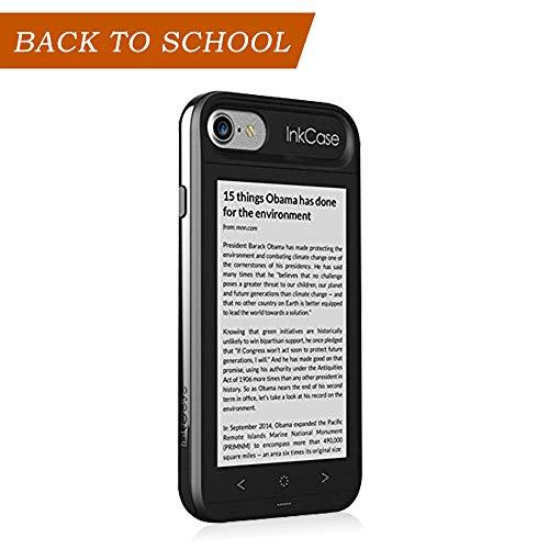 Oaxis Inkcase i7, 4.3'E Inchiostro per iPhone 7, Custodia secondaria astuta Bluetooth per iPhone 7 con Resistente a Goccia, eBook/News/Pocket/Note (Inkcase i7-Black)