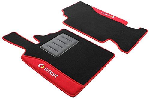 ilTappetoAuto COLOR0000021R, Auto Fußmatten, Anti-Rutsch-Teppich, rot (Auto Smart)