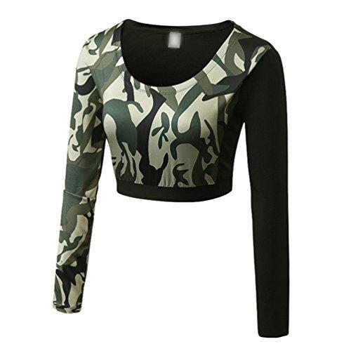 YiJee Donna Asciugatura Veloce Traspirante Yoga T-Shirt Manica Lunga Fitness Jogging Compressione Come Immagine