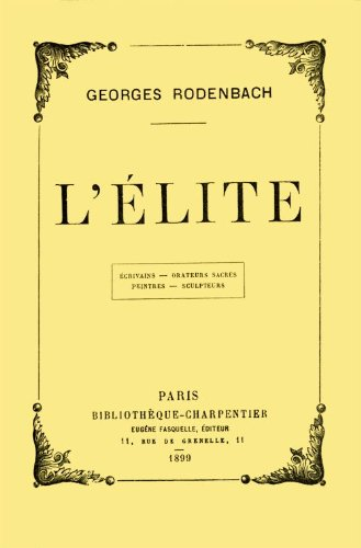 lelite-by-georges-rodenbach-french-edition