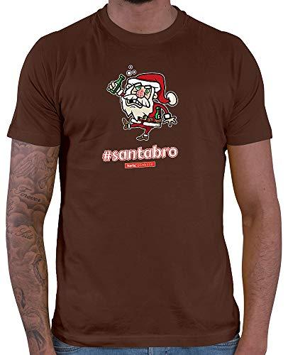 HARIZ  Herren T-Shirt Pixbros Santabro Xmas Weihnachten Cool Familie Winter Inkl. Geschenk Karte Braun 3XL