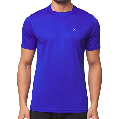 CFLEX Men Sportswear Collection - Herren Funktion Sport Kleidung - Fitness Quickdry Shirt & Hemd Fitness Sport top Royal Größe M