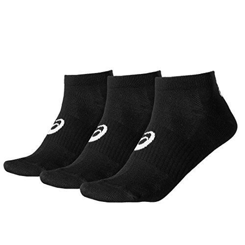 Asics Ped (3 UNIDADES), calcetines hombre, Negro, Talla 1 (35-38 EU)