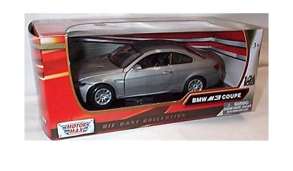 Motormax silver B.M.W M3 coupe car 1:24 scale diecast model