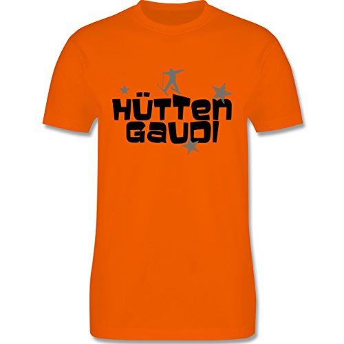 Après Ski - Hüttengaudi Skifahrer - Herren Premium T-Shirt Orange