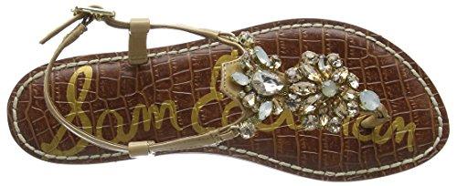 Sam Edelman Grayson, Sandales Plateforme femme Beige (Almond Patent)