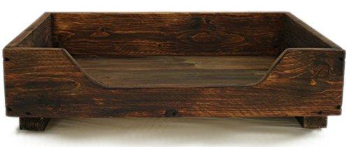 Cama de madera maciza Dekorie67 para mascotas
