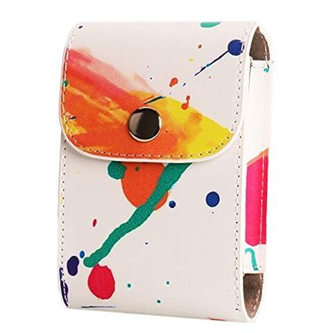 [Fujifilm Mini Foto Tasche] WOODMIN Film und Foto Tasche mit PU Leder für Fujifilm Instax Mini 8 8+ 90 25 50s 70 7s Films (Aquarell)