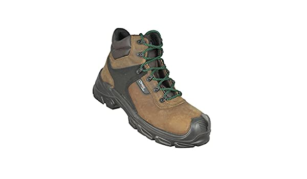 Opsial Step Roc Zero Perforation S3 SRC Sicherheitsschuhe Arbeitsschuhe Trekkingschuhe hoch Braun