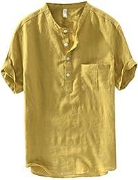 camicia it lino Amazon Giallo Abbigliamento Uomo 1q8qAw