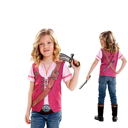 viving Kostüme viving costumes231093 Pirate Girl Short Sleeve T-Shirt (6-8 Jahre, One Size)
