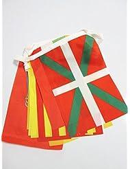GUIRNALDA 5 metros 17 banderas de las 17 COMUNIDADES AUTONOMAS DE ESPAÑA 21x15cm - bandera REGIONES ESPAÑOLAS 15 x 21 cm - banderines - AZ FLAG