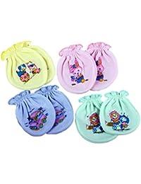 BornBabyKids Multi Photo Printed Baby's Mittens - Pack of 4