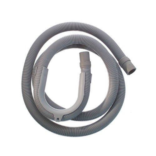 Cornat T357502 - Tubo di scarico flessibile a spirale, con gomito, per lavatrice, 2,5 m