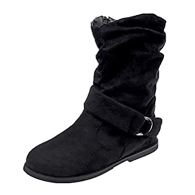 Sannysis Stiefeletten Damen Elegant Vintage Flache Booties Soft Schuhe Set Füße Knöchel Stiefel Middle Boots