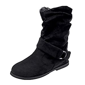 SCHOLIEBEN Boots Stiefel Ankle Chelsea Damen Schwarz Desert Chukka Kurzschaft Halbschaft Combat Winter Absatz High Heel Plateau Bundeswehr Zipper