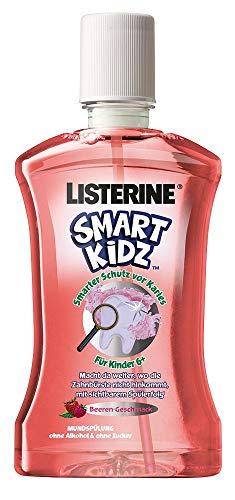 Listerine Smart Kidz Beere Mundspülung für Kinder ab 6 Jahren Mundspülung mit Beerengeschmack, 500 ml