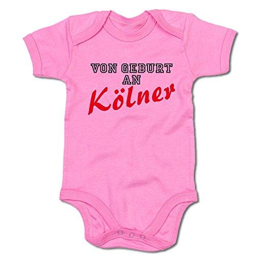 G-graphics Von Geburt an Kölner Baby-Body 250.0098 (0-3 Monate, pink)