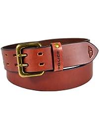 Police Men's Genuine Leather Belt - BURNT SIENNA (PTB0002)