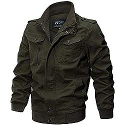 iHENGH Manteau Veste Homme Vêtements Manteau Militaire Tactical Outwear Manteau Respirant