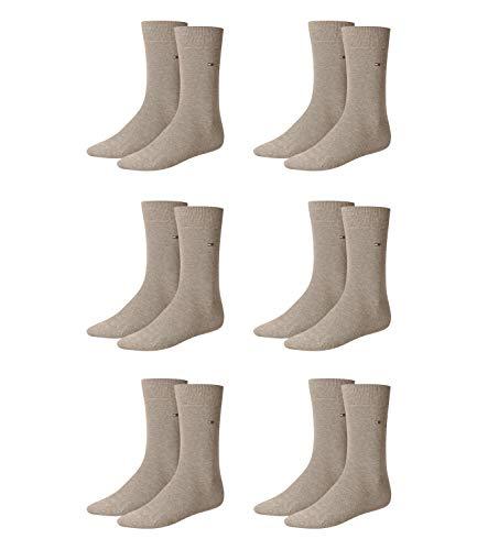 Tommy Hilfiger 6 Paar Classic Socken Gr. 39-49 Herren Business Socken, Farbe:369 - light beige melange, Socken & Strümpfe:39-42 -