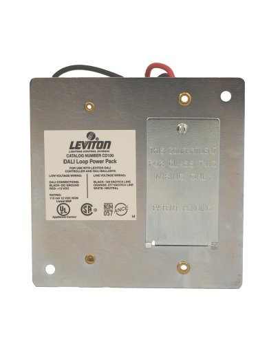 Leviton CD100-D0 Dali Loop Power Pack, For Use With Dali Compatible Dimmer Input Voltage: 120/277 VAC +/-10% & Output Voltage: 12 & Output Current: 110ma, White by Leviton Leviton Dimmer