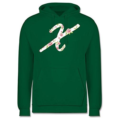 Anfangsbuchstaben - X Rosen - Männer Premium Kapuzenpullover / Hoodie Grün
