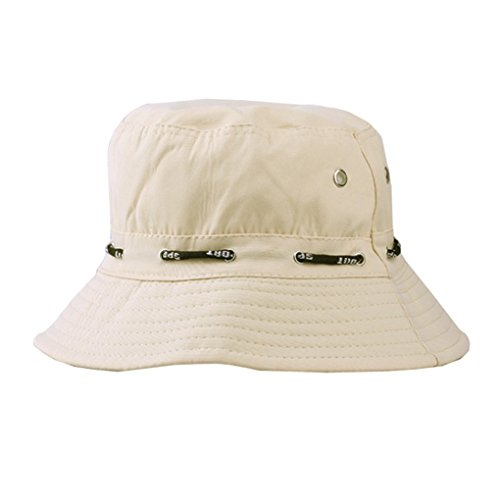 LUFA Sommer-Baumwoll Safari Wandern Bucket Hat Fischer Sun knautschbar justierbare Kappe Beige