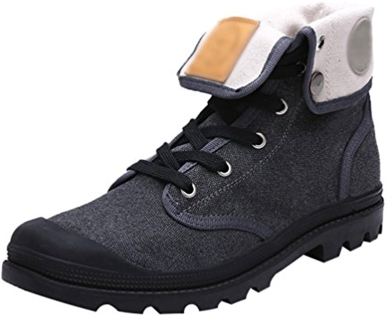 YiJee Unisex Freizeit Schuhe Flache Stiefel Verdickung Warm Schneestiefel