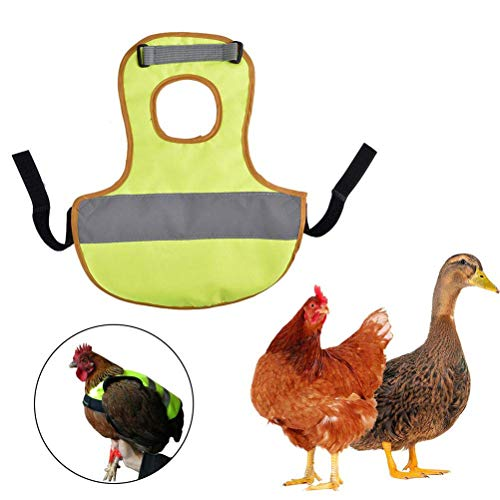 Huhn Machen Kostüm - Bogeger Sicherheitsweste, Pet Reflective Vest Huhn Kleidung, Geflügel Henne Sattel Schürze Feather Protector Halter für Huhn und Ente