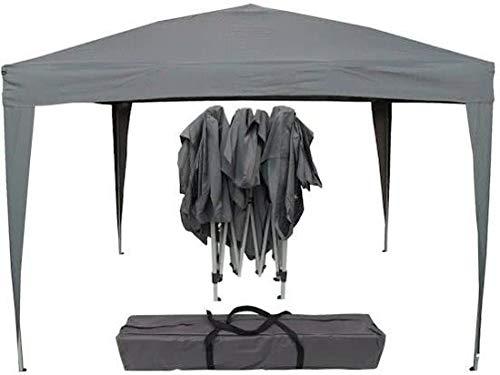 Maxx Pavillon 3x3m | wasserdicht | Pop-Up | inkl. Tasche | UV-Schutz 50+ | Faltpavillon Gartenzelt Partyzelt | grau | Farbauswahl