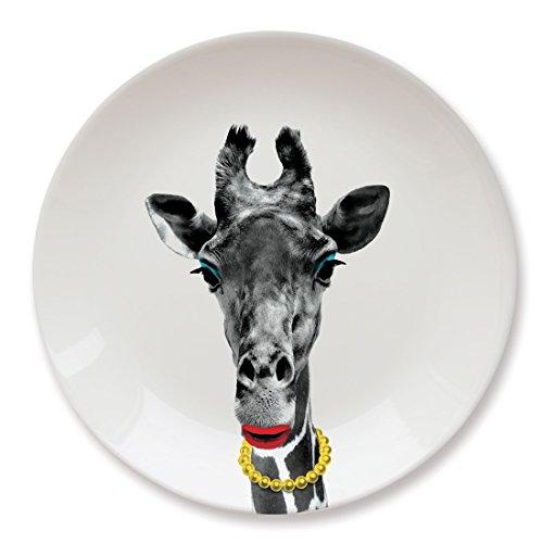 Mustard Keramik Teller - Wild Dining Giraffe