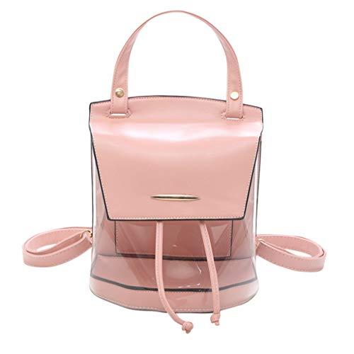 Miss Fortan Damen Arbeiten Transparente Handtaschen Rucksack Freizeitbeutel