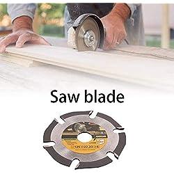 SDGDFXCHN Lame de scie Circulaire de 6 Dents 5 Pouces, Outil de Coupe à scie au carbure de Machine de meulage Multifonctionnel Tout Usage