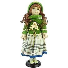 Bambola della Porcellana La Collezione Shannon - Outlet Edizione Vintage Brunette (Green Jumper / Cappello (D))