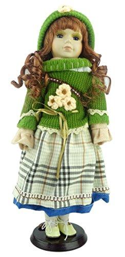 Muñeca de porcelana La Colección Shannon - Vintage Edición Brunette Trajes (Green Jumper / Hat (D))