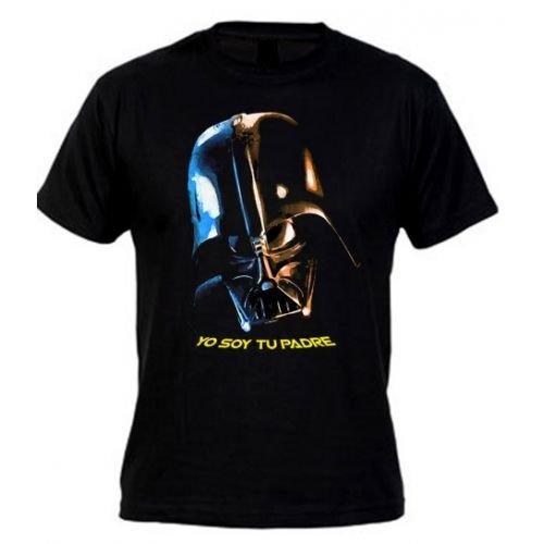 Camiseta Star Wars Darth Vader (Yo soy tu Padre) M Corta (Talla: Talla XXXL Unisex Ancho/Largo [64cm/77cm] Aprox])