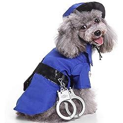 Feidaeu Costumes pour Animaux de Compagnie Antibactérien Anti-Ball Confortable Durable Mignon Et Élégant Petit Chien Moyen Manteau Veste Vêtements