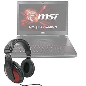 Casque audio DURAGADGET léger & confortable pour ordinateur / PC portable Dell XPS 13 2015 & XPS 15 et MSI GT80 TITAN