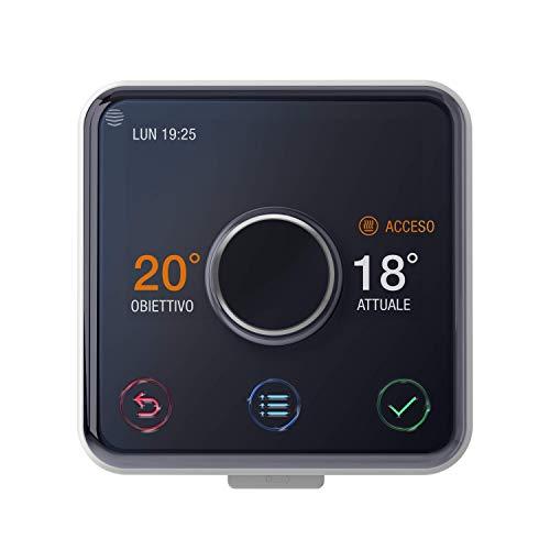 Hive Active Heating kit Termostato caldaia con Installazione Professionale, Nero Lucido/Bianco