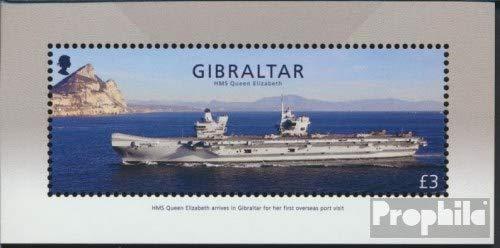 Prophila Collection Gibraltar Block131 (kompl.Ausg.) 2018 HMS Queen Elizabeth (Briefmarken für Sammler) Militär