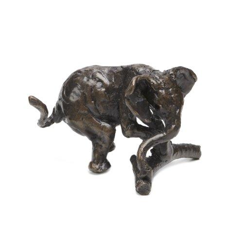 Jonathan Sanders Elefant Spielen handgefertigt Statuette Bronze Skulptur von Nelson & Forbes -